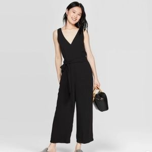 NWT A New Day Black V-Neck Sleeveless Jumpsuit